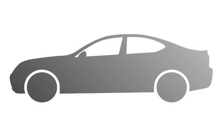Car symbol icon - medium gray gradient, 2d, isolated - vector illustration