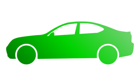 Car symbol icon - green gradient, 2d, isolated - vector illustration 向量圖像