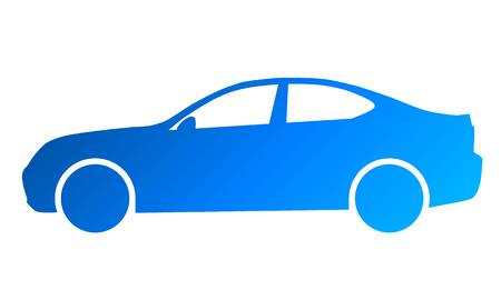 Car symbol icon - blue gradient, 2d, isolated - vector illustration 向量圖像