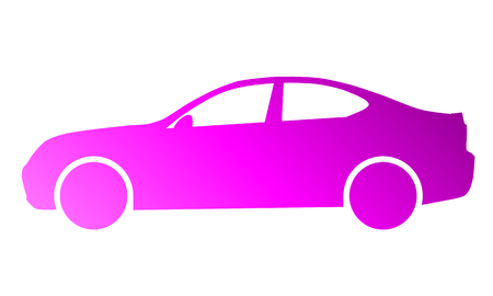 Car symbol icon - purple gradient, 2d, isolated - vector illustration