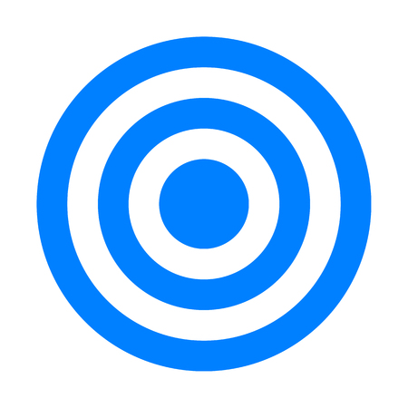 Target sign - blue simple transparent, isolated - vector illustration 向量圖像