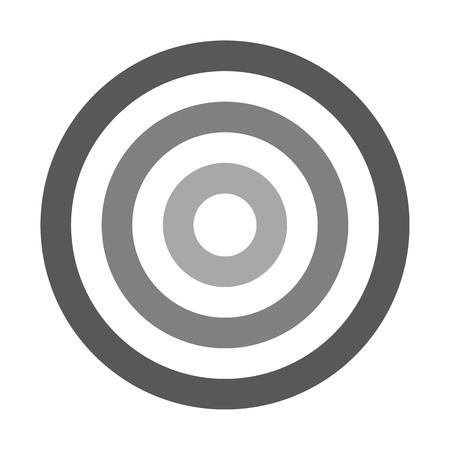 Target sign - medium gray shades simple transparent, isolated - vector illustration 向量圖像