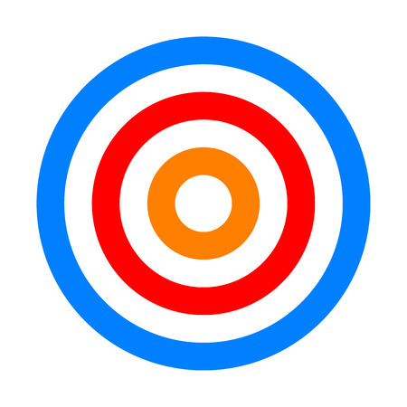 Target sign - colorful orange red blue simple transparent, isolated - vector illustration 向量圖像