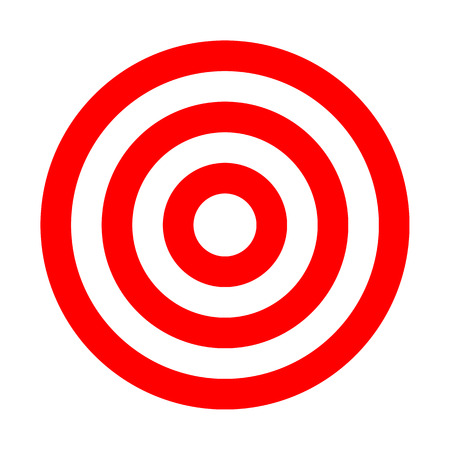 Target sign - red simple transparent, isolated - vector illustration 向量圖像