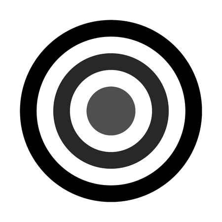 Target sign - black shades simple transparent, isolated - vector illustration