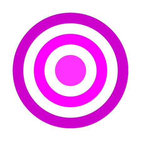 Target sign - purple shades simple transparent, isolated - vector illustration