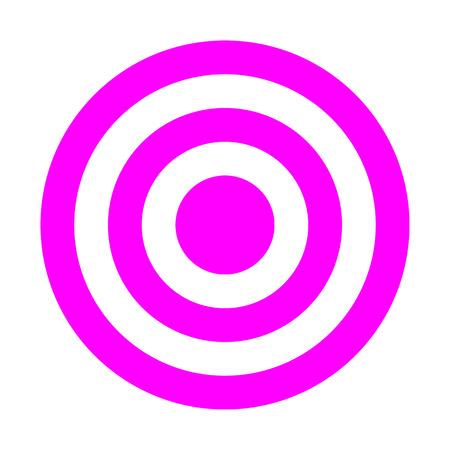 Signe cible - violet simple transparent, isolé - illustration vectorielle