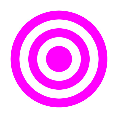Target sign - purple simple transparent, isolated - vector illustration