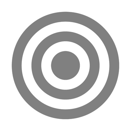Target sign - medium gray simple transparent, isolated - vector illustration