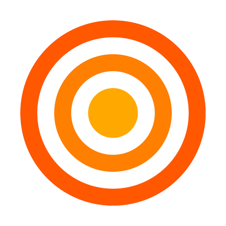 Target sign - orange shades simple transparent, isolated - vector illustration
