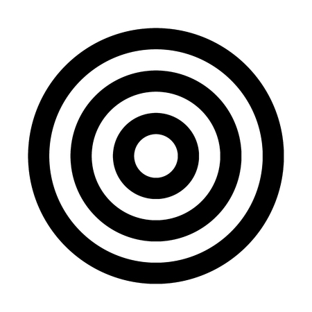 Target sign - black simple transparent, isolated - vector illustration 向量圖像