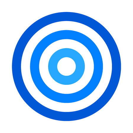 Target sign - blue shades simple transparent, isolated - vector illustration Vektoros illusztráció