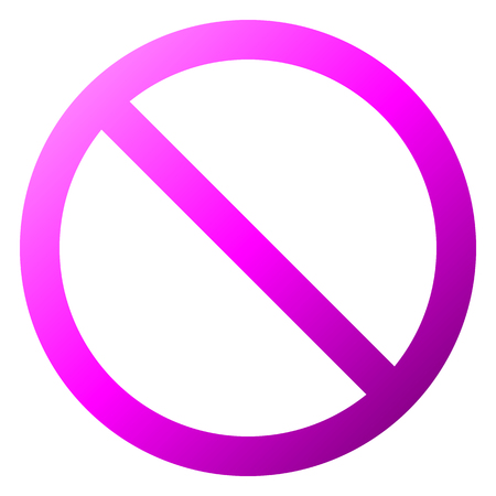 No sign - purple thin gradient, isolated - vector illustration Illustration