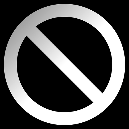 No sign - white thick gradient, isolated - vector illustration