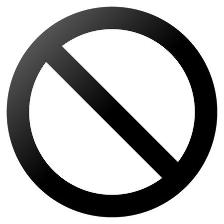 No sign - black thick gradient, isolated - vector illustration