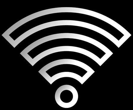 Wifi symbol icon - white outlined gradient, isolated - vector illustration