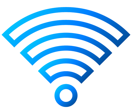 Wifi symbol icon - blue outlined gradient, isolated - vector illustration  イラスト・ベクター素材