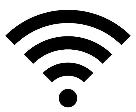 Wifi symbol icon - black simple, isolated - vector illustration