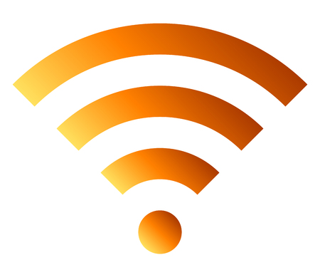Wifi symbol icon - orange simple gradient, isolated - vector illustration