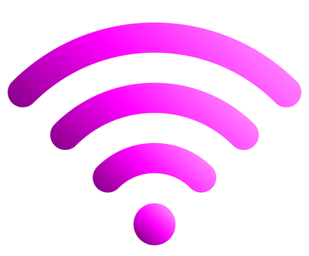 Wifi symbol icon - purple simple rounded gradient, isolated - vector illustration