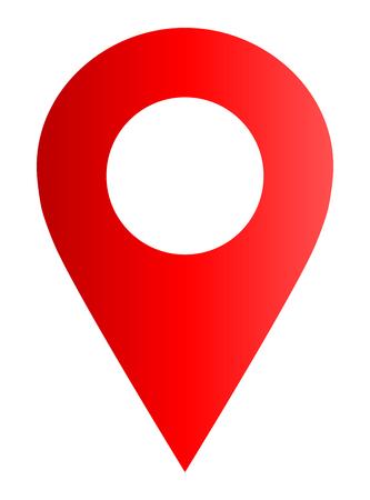 Pin point - gradiente rosso cavo, isolato - illustrazione vettoriale