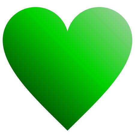 Heart symbol icon - green gradient, isolated - vector illustration