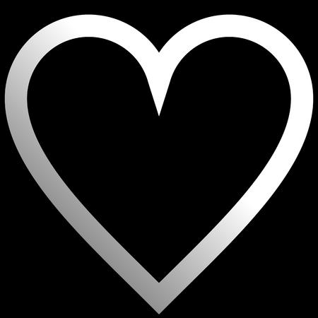 Herzsymbol - weißer Farbverlauf, isoliert - Vektorillustration Vektorgrafik