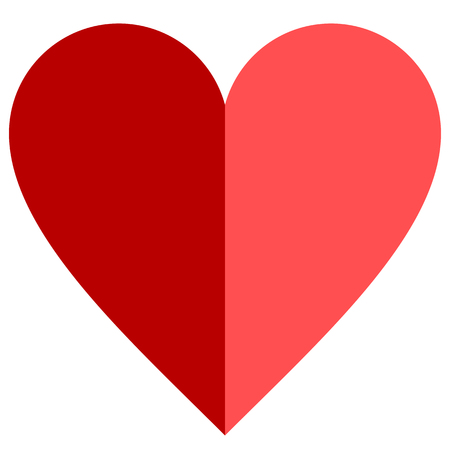 Heart symbol icon - red simple, isolated - vector illustration
