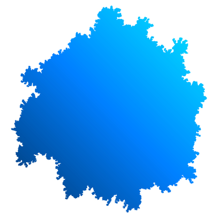 Tree top silhouette isolated - blue gradient detailed - vector illustration
