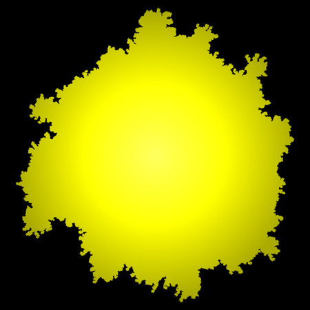 Tree top silhouette isolated - yellow gradient detailed - vector illustration