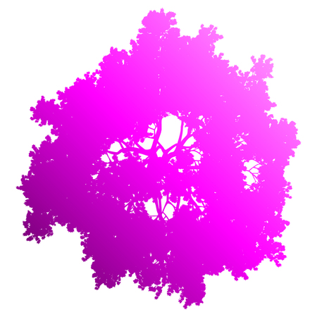 Tree top silhouette isolated - purple gradient detailed - vector illustration  イラスト・ベクター素材
