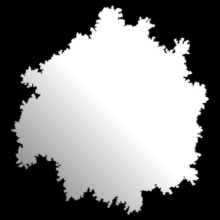 Tree top silhouette isolated - white gradient detailed - vector illustration