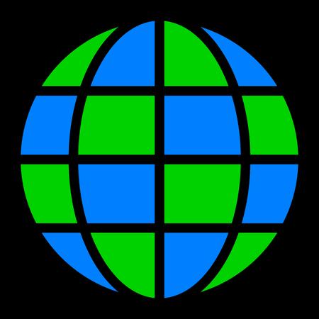 Globe symbol icon - Earth simple, isolated - vector illustration