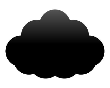 Cloud symbol icon - black gradient, isolated - vector illustration