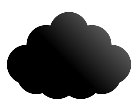 Cloud symbol icon - black gradient, isolated - vector illustration Illusztráció