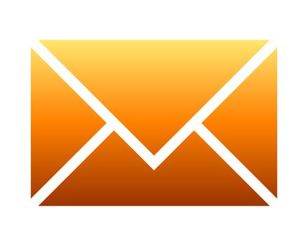 Mail symbol icon - orange gradient, isolated - vector illustration Vector Illustratie