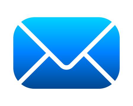 Icône de symbole de courrier - dégradé bleu avec coins arrondis, isolé - illustration vectorielle Vecteurs