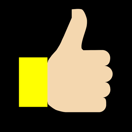 Like symbol icon - yellow simple, isolated - vector illustration Ilustração