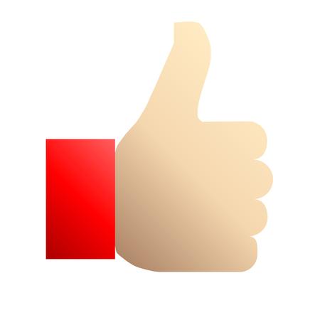 Like symbol icon - red gradient, isolated - vector illustration Ilustração