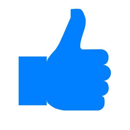 Like symbol icon - blue simple, isolated - vector illustration Reklamní fotografie - 124996015