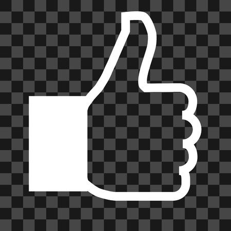 Like symbol icon - white simple outline, isolated - vector illustration Reklamní fotografie - 124996030