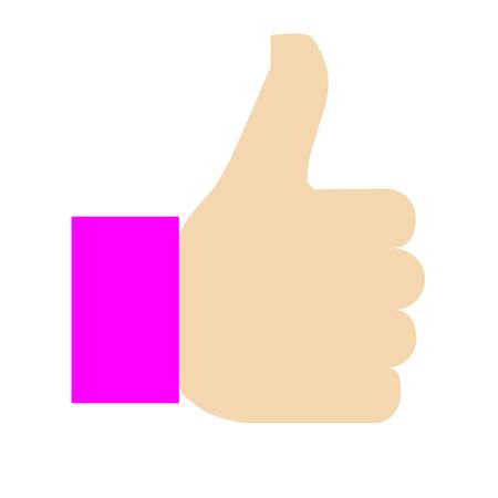 Like symbol icon - purple simple, isolated - vector illustration Illustration