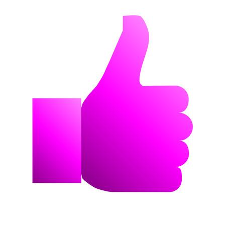 Like symbol icon - purple gradient, isolated - vector illustration