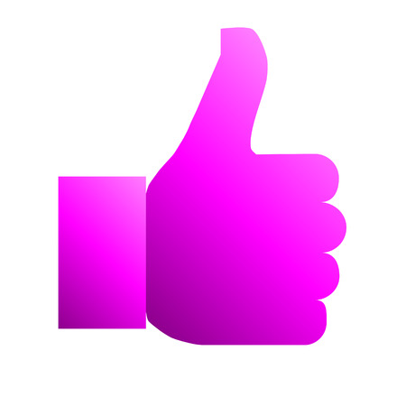 Like symbol icon - purple gradient, isolated - vector illustration