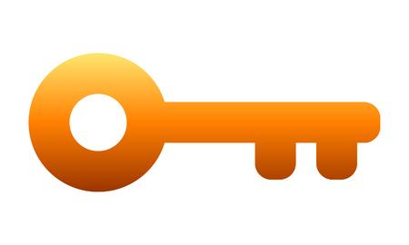 Key symbol icon - orange gradient, isolated - vector illustration Illustration