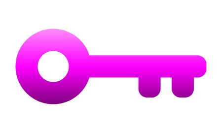 Key symbol icon - purple gradient, isolated - vector illustration