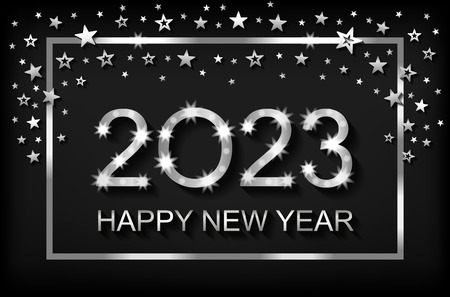 Happy New Year 2023 - greeting card