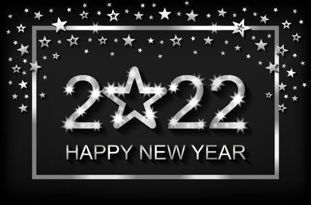 Bonne année 2022 - carte de voeux, flyer, invitation - illustration vectorielle Vecteurs