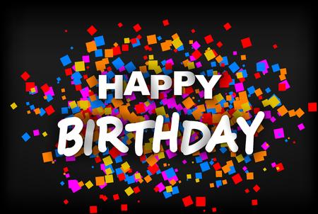 Happy Birthday - greeting card Foto de archivo - 121569924
