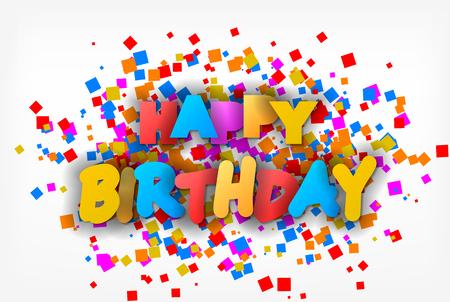 Happy Birthday - greeting card, flyer, invitation - vector